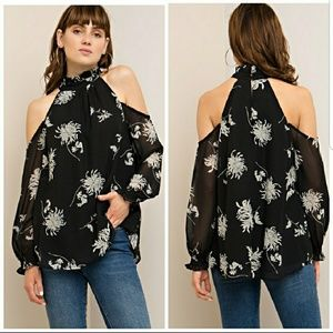 Tops - Cold Shoulder long sleeve top
